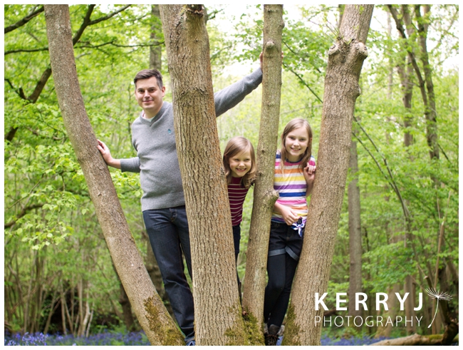 Family photography in the bluebell woods, surrey