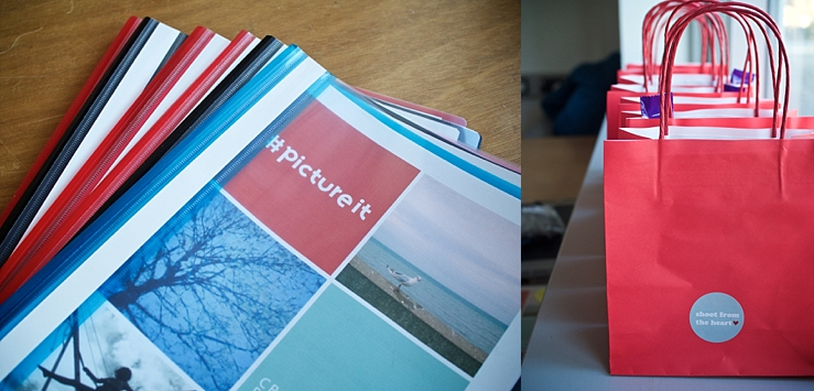 workbooks and goody bags for teenagers photography course
